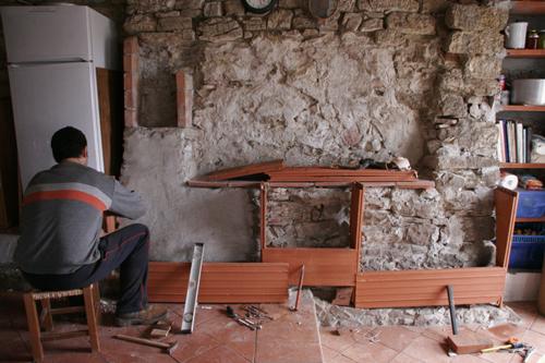 ニタモノドウシ~キッチンの棚作り_f0106597_20374927.jpg