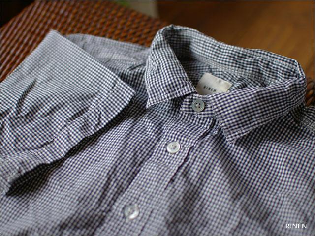 RINEN [リネン] 80/2ダウンプルーフ ギンガムチェック 半袖レギュラーカラーシャツ  _f0051306_246146.jpg