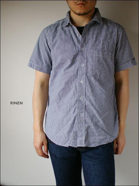 RINEN [リネン] 80/2ダウンプルーフ ギンガムチェック 半袖レギュラーカラーシャツ  _f0051306_2461938.jpg