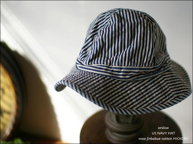 orslow[オアスロウ] US NAVY HAT 10oz ジンバブエ cotton HICKORY _f0051306_2493529.jpg