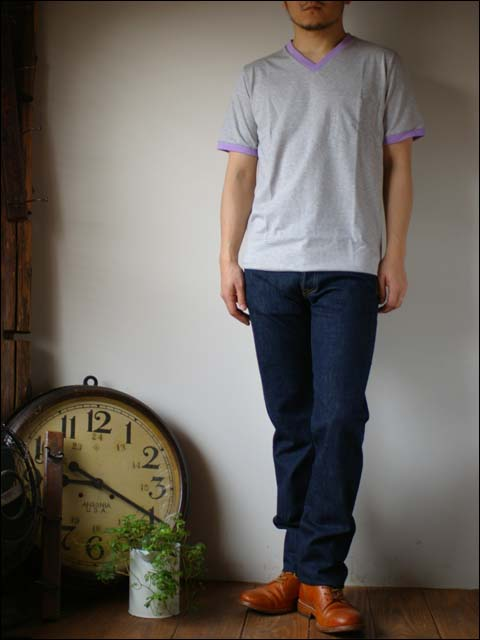 pyjama clothing [ピジャマクロージング] S/S TRIM POCKET V [7947] _f0051306_2551168.jpg