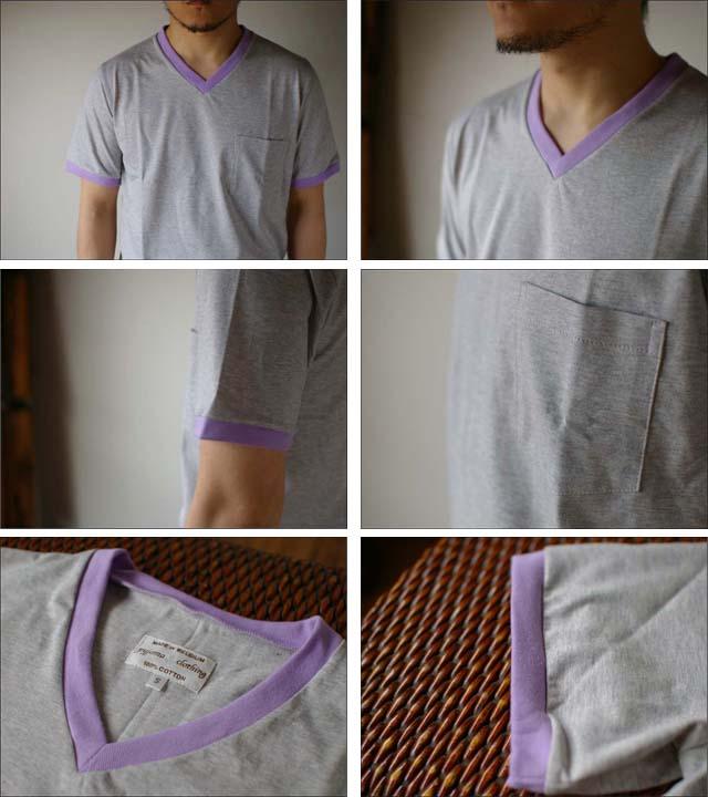 pyjama clothing [ピジャマクロージング] S/S TRIM POCKET V [7947] _f0051306_25566.jpg