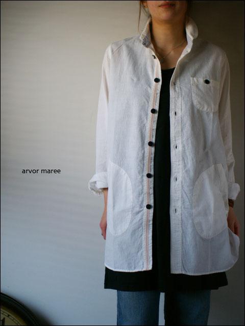 arvormaree[アルボーマリー] 綿麻シャツチュニック [WHITE]  _f0051306_314336.jpg
