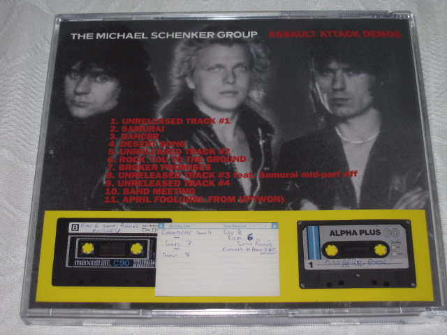 THE MICHAEL SCHENKER GROUP / ASSAULT ATTACK DEMOS_b0042308_2364846.jpg