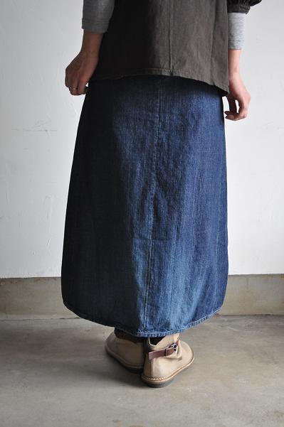 OMNIGOD/オムニゴッド レディース 12oz甘織りデニム ギャザー スカート