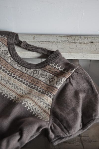 TANG/タング C/L Puff Sleeve Knit