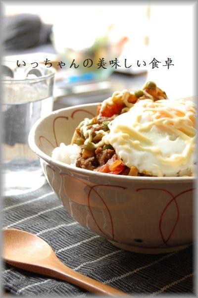 和風ドライカレー卵のっけ丼 & 行ってきま~す☆_d0104926_27578.jpg