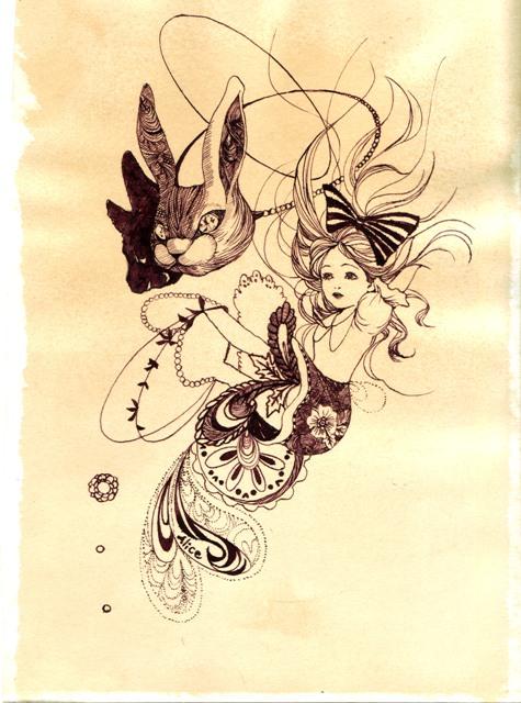 紅茶の紙のアリス。_f0228652_16445648.jpg