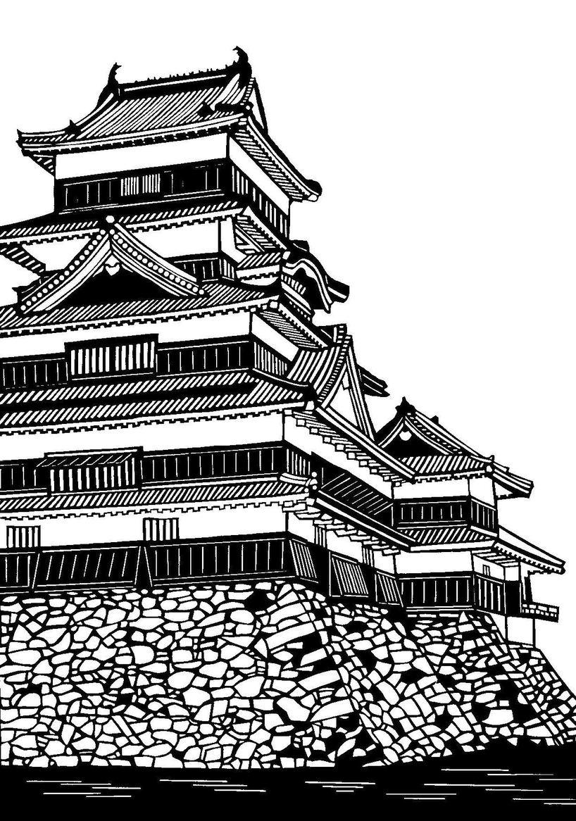松本城 山岡の水車 切り絵展が ... : 動物の絵 簡単 : すべての講義