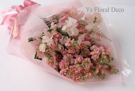 ピンク色のクラッチブーケ_b0113510_15134728.jpg