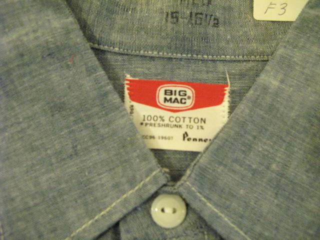 アメリカ仕入れ情報#11 60'S Deadstock シャンブレーシャツ!_c0144020_1361057.jpg