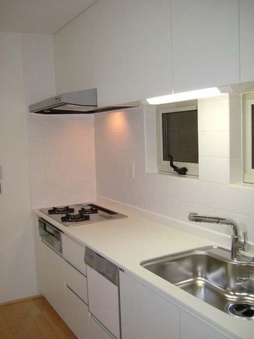 エナメルホワイトでトータルデザイン キッチン+食器戸棚+洗面台_f0222049_1456356.jpg