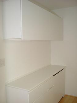 エナメルホワイトでトータルデザイン キッチン+食器戸棚+洗面台_f0222049_1521454.jpg