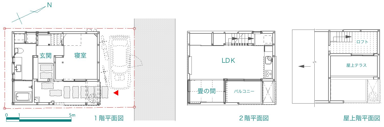 「小岩の家」 site & plan_f0230666_16334820.jpg