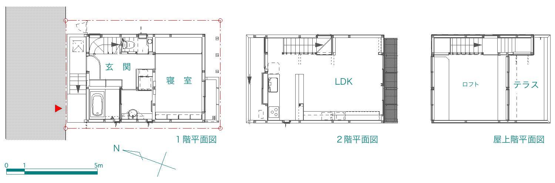 「幡ヶ谷の家」  site & plan_f0230666_1134764.jpg
