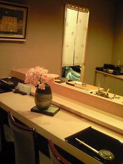 鮨「なが井」×バラ(ルナピンク)_b0151059_753462.jpg