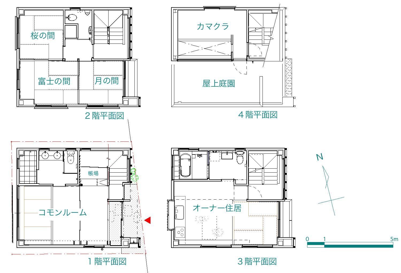 「東京旅館」 site & plan_f0230666_11263081.jpg