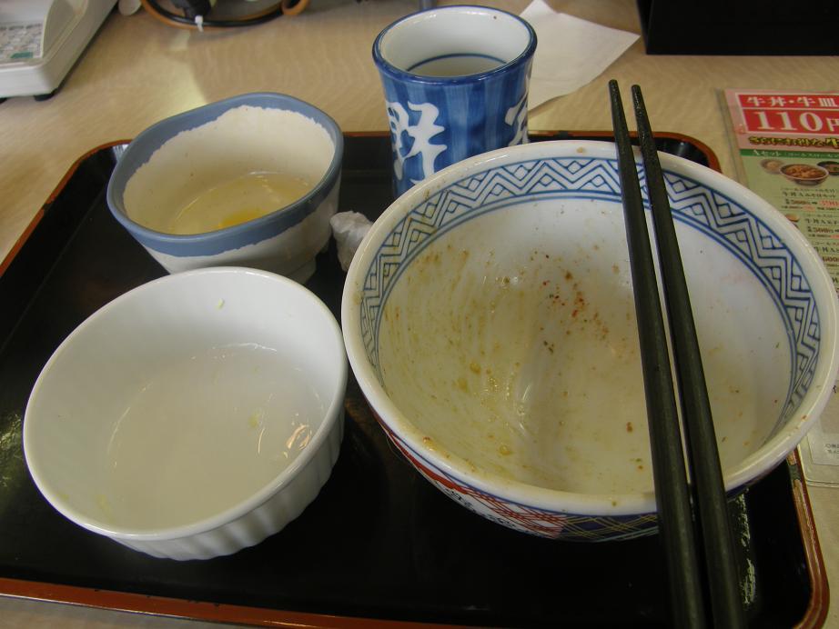 吉野家の牛丼   関目店_c0118393_7223593.jpg