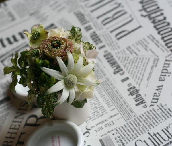 虎ノ門ル・プティ・トノー様の装花 ウエルカムなムッシュウ_a0042928_21365069.jpg