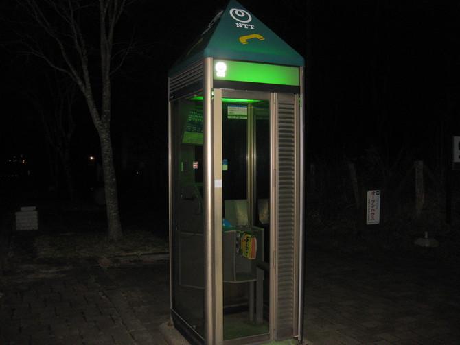 緑に輝く電話ボックス_f0236260_23115322.jpg