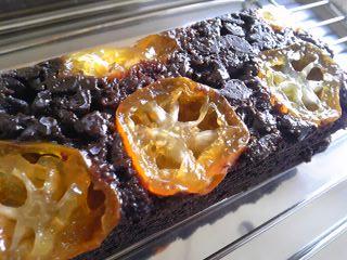 きんかんとチョコのケーキ_b0102217_18201289.jpg