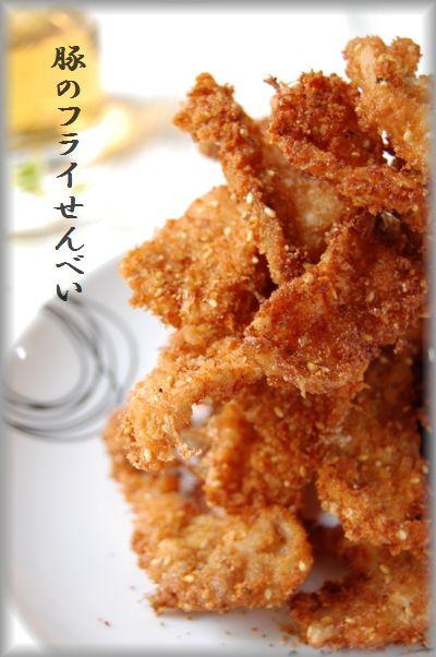 おかか胡麻風味☆カリカリ豚のフライせんべい_d0104926_204315.jpg