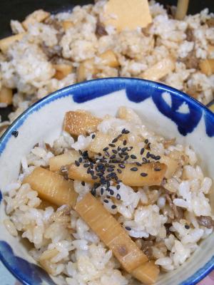 ++栗原はるみさんレシピ 2010年版たけのこご飯++_e0140921_9484177.jpg