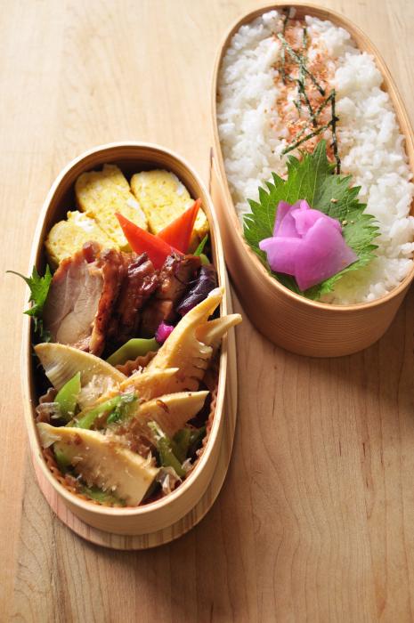 レンジ筍の煮物弁当_b0171098_74941100.jpg