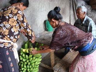 お隣さんから大きなバナナを買いました。_a0120328_1620945.jpg