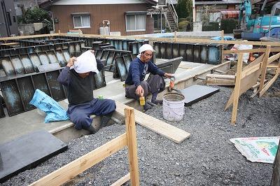 大間々町のO井様邸 地盤改良後 基礎工事が着々と進んでいます。_a0084859_9422100.jpg