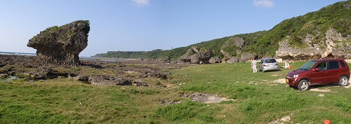 具志頭海岸の地質見学_c0180460_104548.jpg