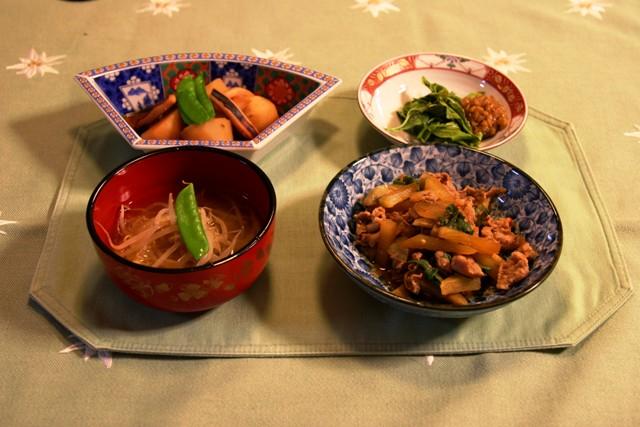 ヤーコンと豚肉の炒めもの(295kcal)_f0229190_16435282.jpg