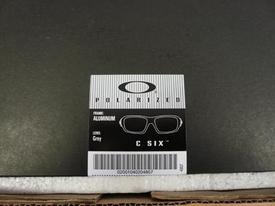 OAKLEYエリートコレクションC SIX Aluminium入荷!_c0003493_9321770.jpg