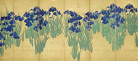今日の散歩道、根津美術館で琳派の美「燕子花図屏風」を鑑賞_a0138976_181457.jpg