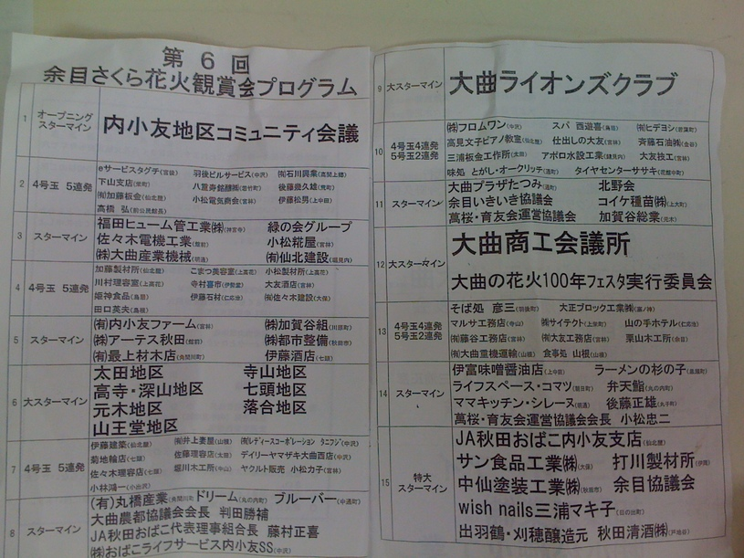 余目さくら花火鑑賞会_d0084478_8185332.jpg