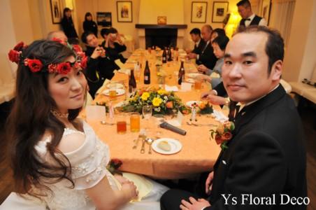花冠&リストレット 赤いプリザーブドフラワーで_b0113510_0122589.jpg
