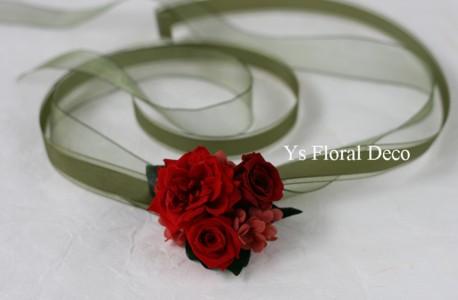 花冠&リストレット 赤いプリザーブドフラワーで_b0113510_0155116.jpg