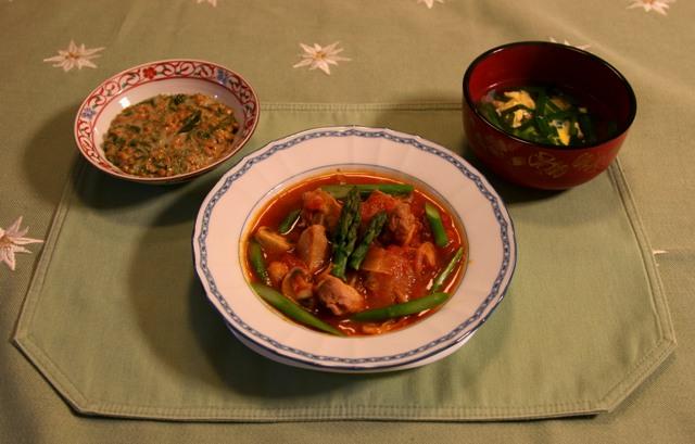 マッシュルームと鶏モモのトマト煮(387kcal)_f0229190_21372431.jpg