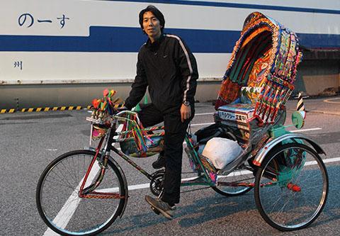 バングラデシュ製のリキシャで日本縦断中_b0114798_1020787.jpg