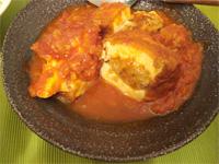 【レシピ】肉詰め厚揚げのトマト煮込み _f0232060_1694792.jpg