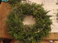 花修行 ~クリスマスのフレッシュリース~ _f0232060_19312954.jpg