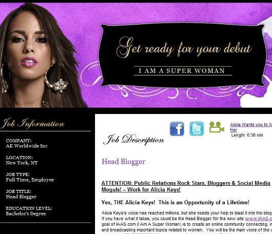 ブロガーの皆さんへ、Alicia Keysさんから夢のお仕事のチャンス!!!_b0007805_1042551.jpg