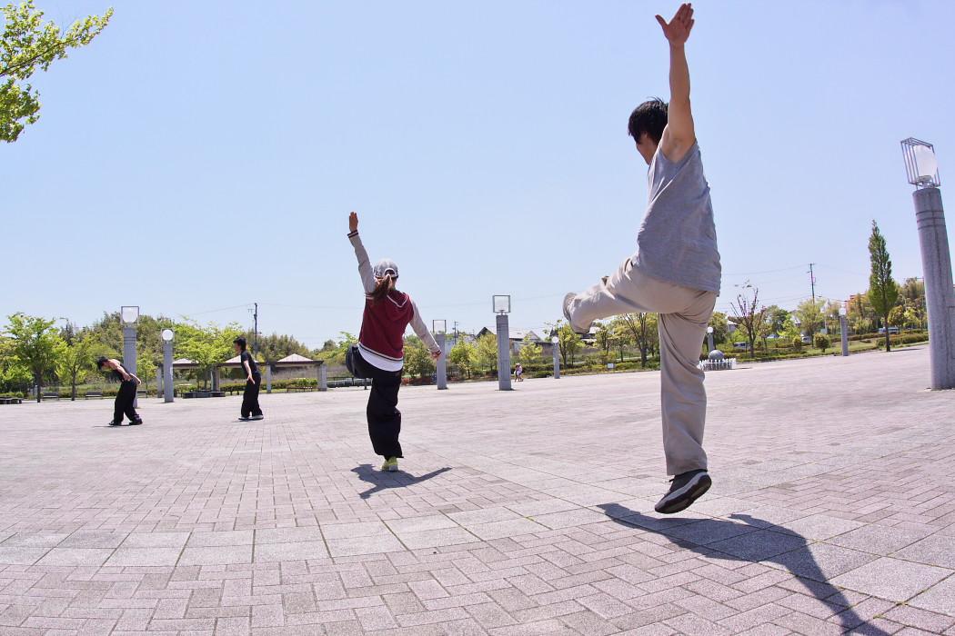 遣舞神使練習@あいち健康の森_c0187584_1035951.jpg