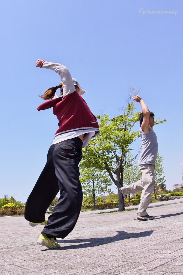 遣舞神使練習@あいち健康の森_c0187584_1041153.jpg