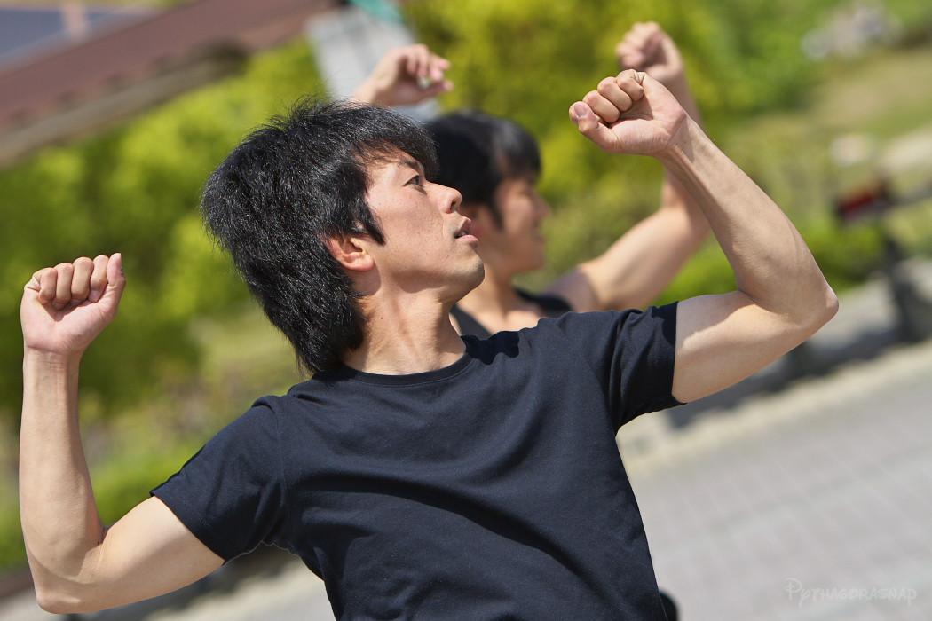 遣舞神使練習@あいち健康の森_c0187584_1043525.jpg