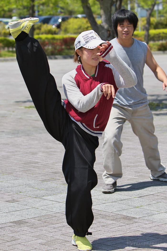 遣舞神使練習@あいち健康の森_c0187584_1051388.jpg