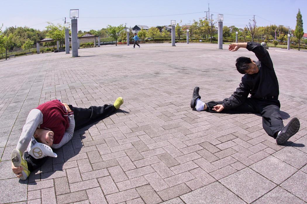 遣舞神使練習@あいち健康の森_c0187584_9231461.jpg