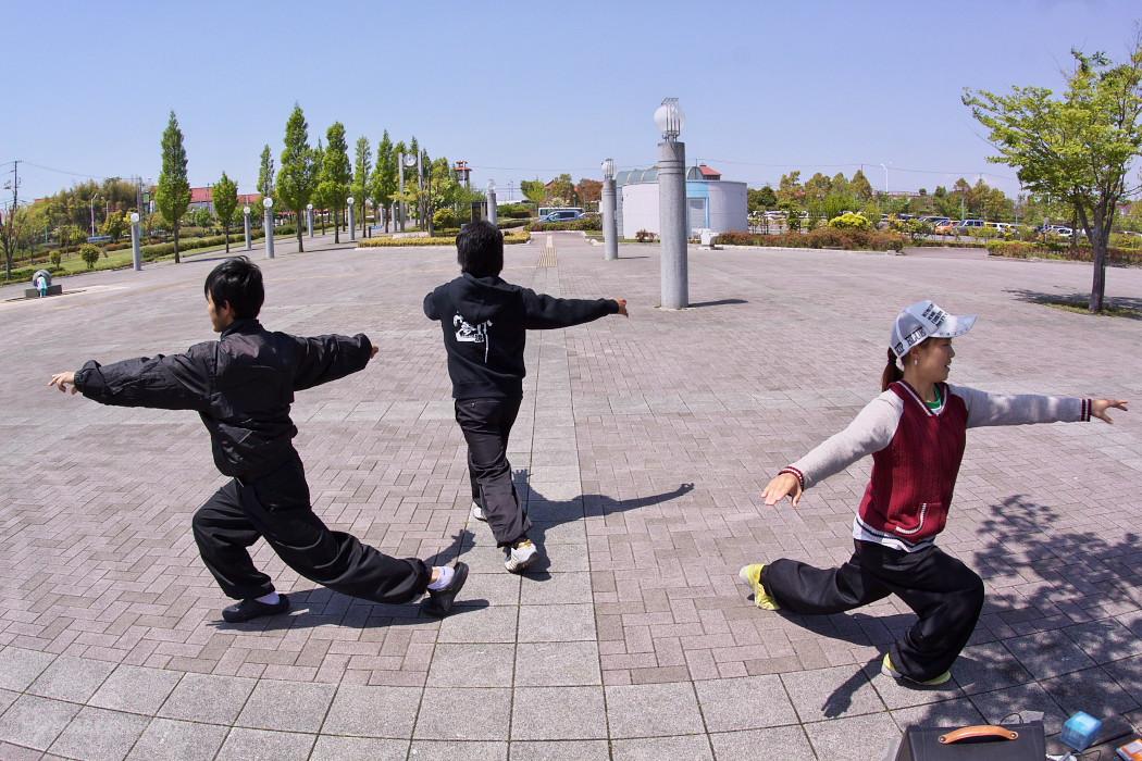 遣舞神使練習@あいち健康の森_c0187584_956147.jpg