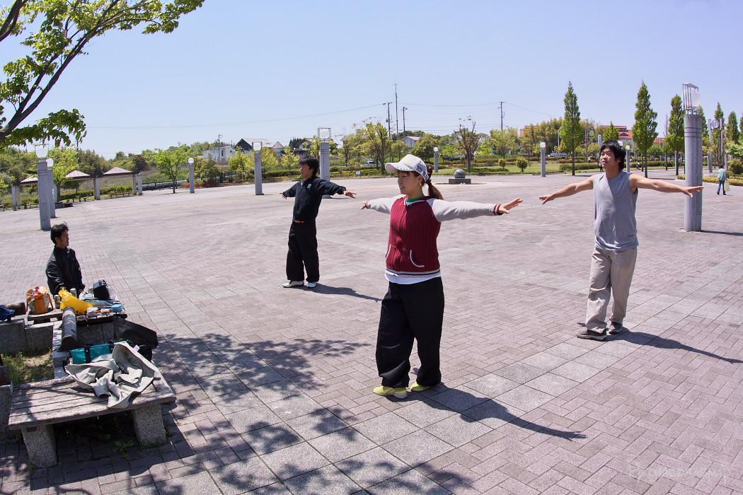 遣舞神使練習@あいち健康の森_c0187584_9565048.jpg