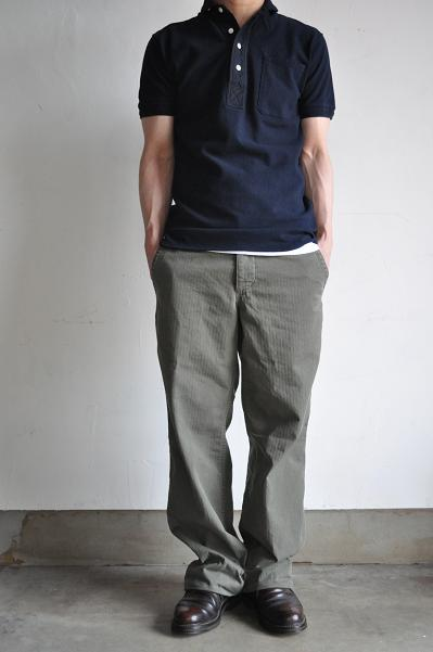 GARMENT REPRODUCTION OF WORKERS  RESEARCH & DEVELOPEMENT 1930'S French Work Trousers Modified<br />